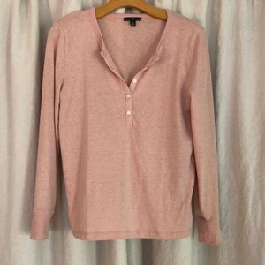 // J.Crew blush long sleeve Henley //